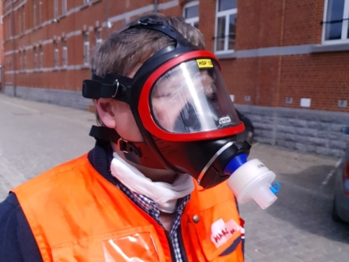 COVID-19 Adapting firefighter masks into protective masks